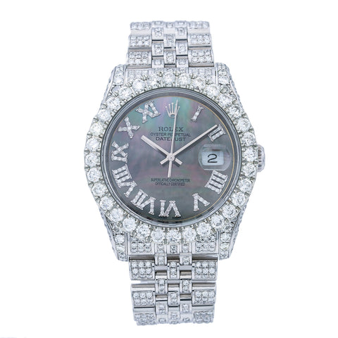 Rolex Datejust 116234 36MM Mother of Pearl Diamond Dial With 11.25 CT Diamonds