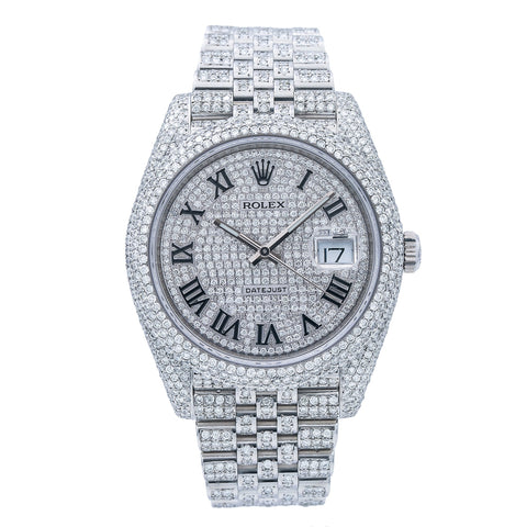 Rolex Datejust 126300 41MM Silver Diamond Dial With 14.75 CT Diamonds