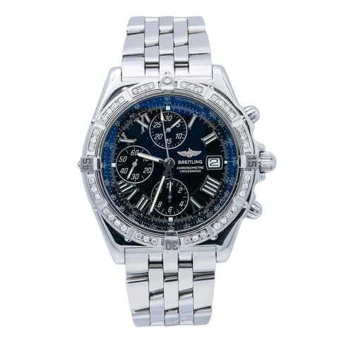 Breitling Crosswind Racing A13355 44MM Black Dial With Stainless Steel Bracelet