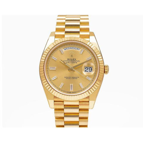 Rolex Day-Date 228238 40MM Champagne Dial With Yellow Gold Bracelet