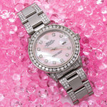 Rolex Datejust Diamond Watch, 16014 36mm, Pink Diamond Dial With 5.75 CT Diamonds