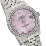 Rolex Datejust Diamond Watch, 78274 31mm, Pink Diamond Dial With 1.05 CT Diamonds