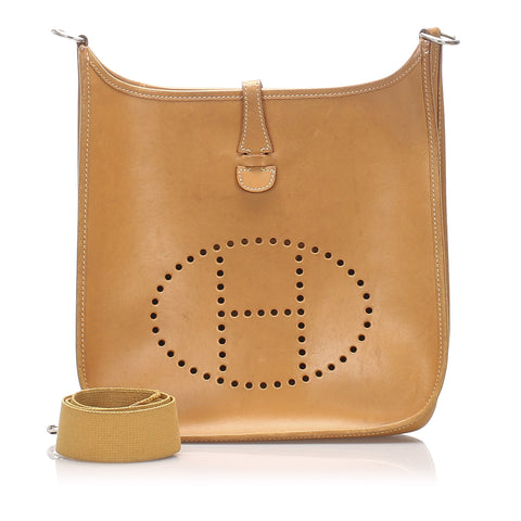 Hermes Brown Vache Natural Evelyne I PM