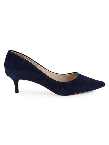 Saks Fifth Avenue Donata Suede Kitten Pumps