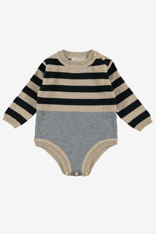 Mini Sibling Knit Bodysuit - Oatmeal