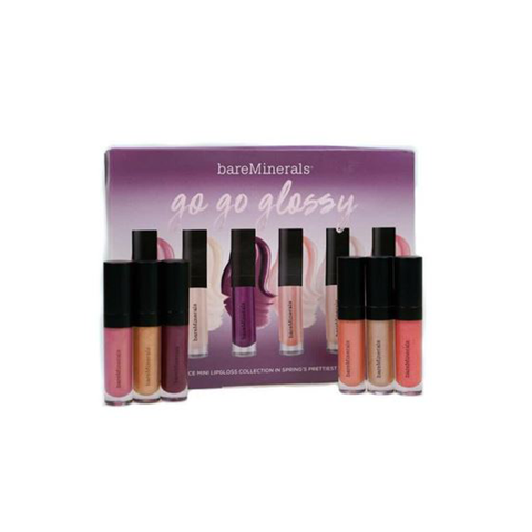 Bare Minerals Go Go Gloss Mini Moxie Plumping Lip Gloss Set (6 x 2.25ml)
