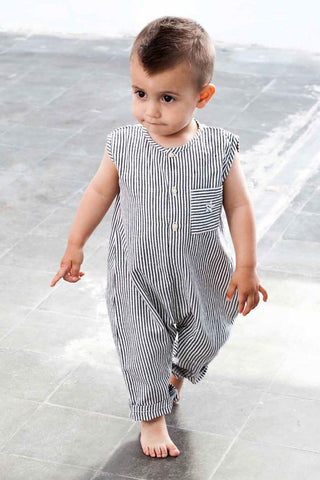 Tocoto Vintage Baby Boys Striped Jumpsuit (Size 6M left)