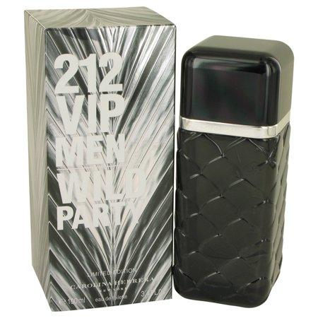 212 VIP Wild Party  For Men By Carolina Herrera  Eau De Toilette Spray 3.4 oz