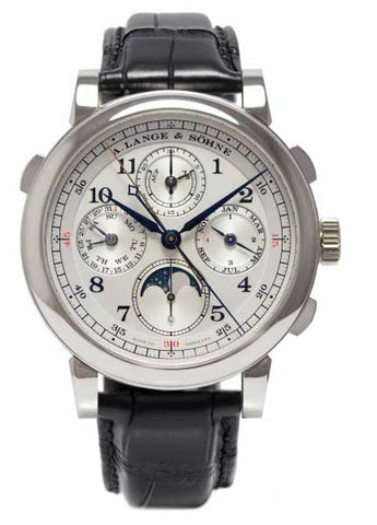 Luxury watch Men's Lange and Sohne Rattrapante Perpetual Calendar Platinum