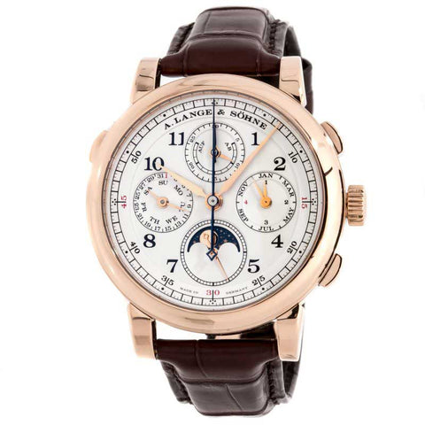 Luxury Men's Watch A. Lange and Sohne 1815 Rattrapante Perpetual Calendar 18k Rose