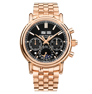 Patek Philippe Rose Gold Men's Watch with Bracelet