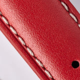 Leather Strap - Red/White