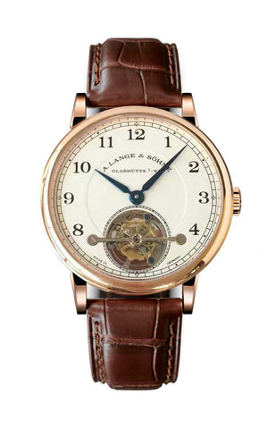 Luxury watch Men's Lange and Sohne Tourbillon Brown Leather