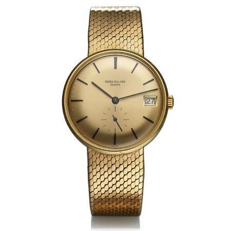 Patek Philippe Calatrava 34MM 3514/4 Yellow Gold Bezel and Bracelet