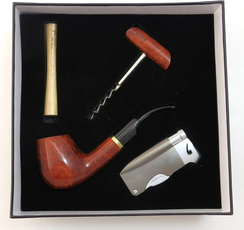 Briar Tobacco Pipe Gift Set With Accessories