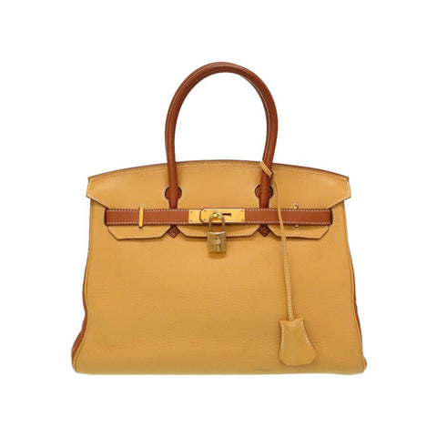 Hermes Brown Bi-color Clemence Birkin 30