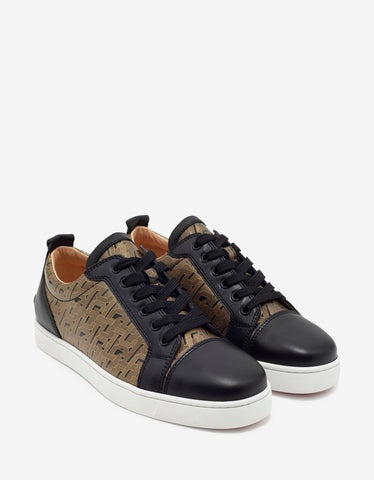 Louis Junior Black & Gold Patent Leather Trainers