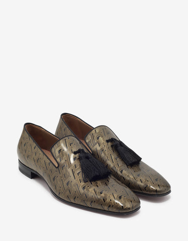 Officialito Black & Gold Patent Leather Loafers