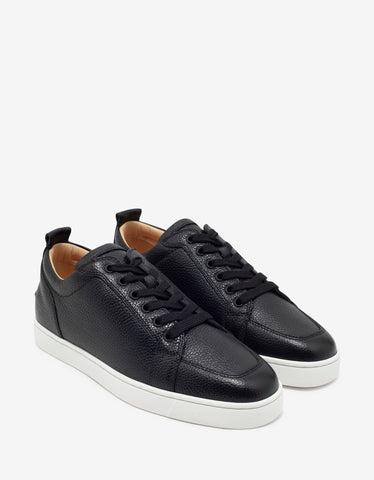 Rantulow Black Grain Leather Trainers
