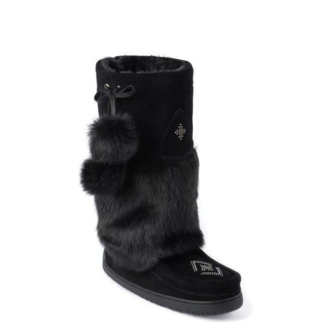 Luxury Unique Boots Faux Fur Snowy Owl