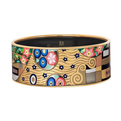 Luxury Frey Wille Hommage a Gustav Klimt - Bordered Bangle Donna - The Ultimate Kiss