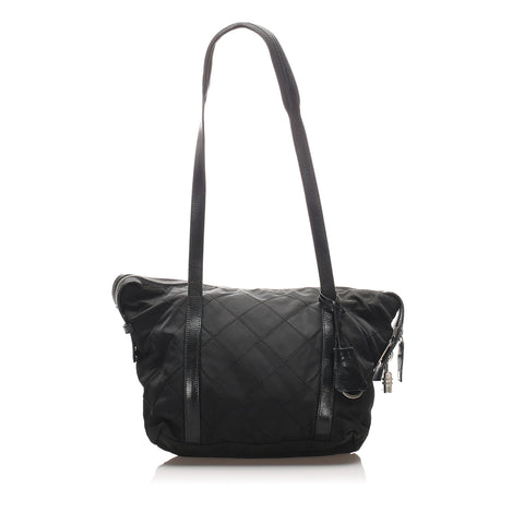 Prada Black Quilted Tessuto Tote Bag