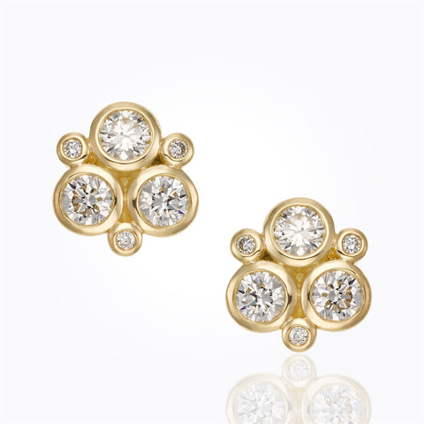 Yellow Gold Classic Trio Earrings