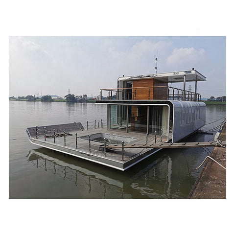 Customized House Boat Floating Hotel for Entertainment Luxury Yacht Recreation Yacht