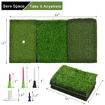 Practice Tri-Turf Golf Hitting Mat Golf Grass Mat Driving Range Mat