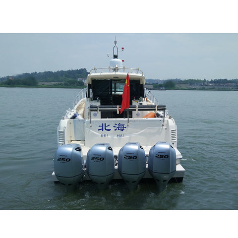 High quality 45ft fiberglass luxury yacht can be outboard version inboard version