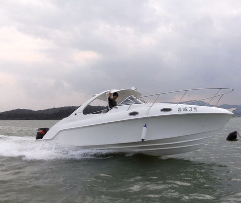 WATERWISH boat QD27 CABIN Fibreglass Cabin Cruiser T Top Boat With Cheap Price