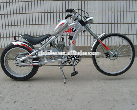 "24""cheap GAS MOTOR ENGINE BIKE CHOPPER MOTORCYCLE TWO STROKE GAS ENGINE BICYCLE"