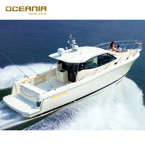 45WA Cabin Luxury High Speed Yacht Fiberglass Fishing Boat for Sale