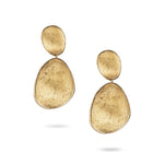 Luxury Marco Bicego Lunaria Collection Large Double Drop Earrings in 18K Yellow Gold