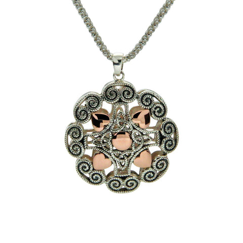 Luxury Ashen Rose Heart Pendant Small