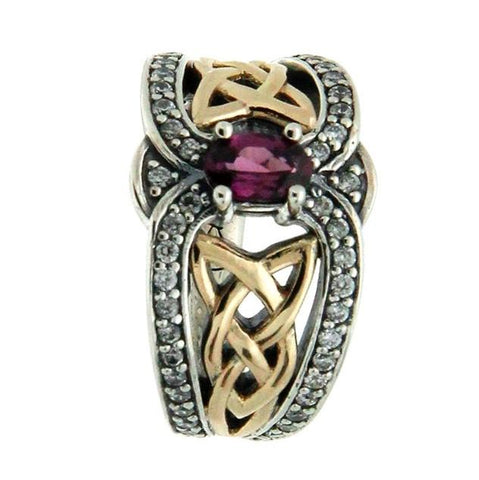 Celtic Dress Ring S/S and 10K Gold