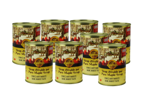 Pure maple syrup CANADA A- DARK, Robust Taste 8x540ml