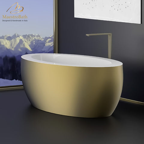 Designer Oval Bathtub | Gold