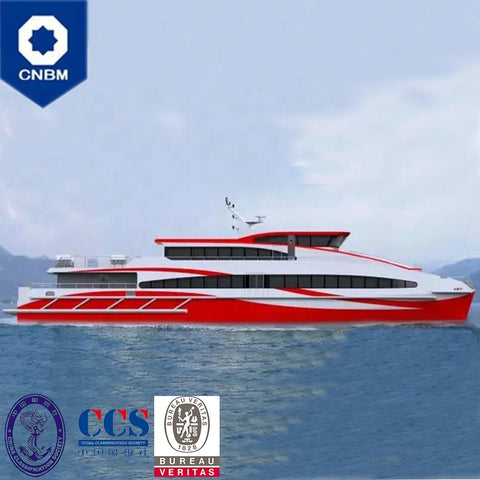 139ft 280 Seats Cruise Yacht Luxury Sightseeing Tour Boat Fast Aluminum Catamaran  Passenger Ferry Boats for Sale