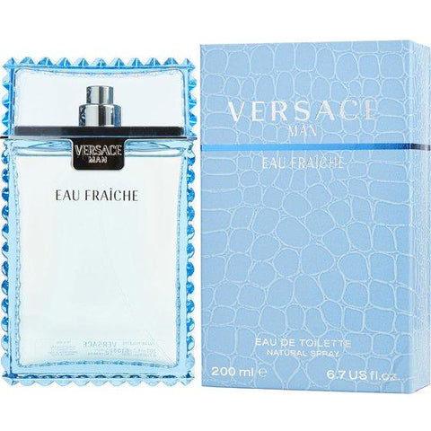 Eau Fraiche For Men By Versace Eau De Toilette Spray 6.7 oz