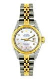 Rolex Datejust Diamond Watch, 26mm, Yellow Gold and Stainless Steel Bracelet Alice Blue Dial w/ Diamond Lugs