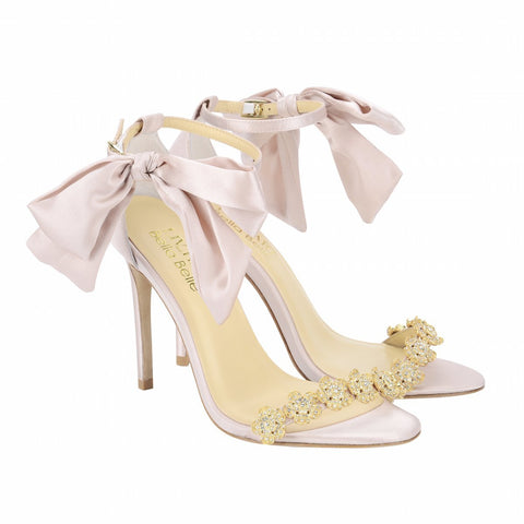 Style Blush Bow Evening/Wedding Heel by Liv Hart