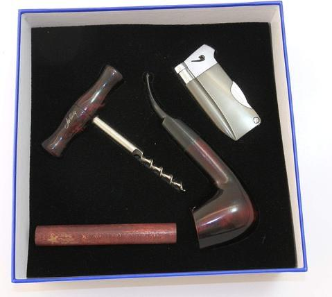 Pear Wood Pipe Gift Set