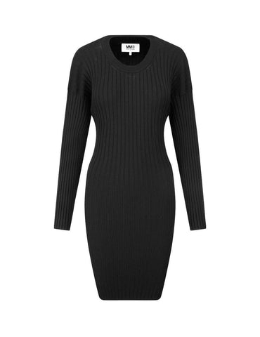 High-Quality Rib-Knit Dress