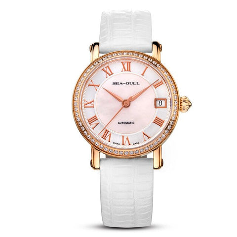 Sea-gull 719.387 Automatic Mechanical women's Watch Self Winding (WHITE)