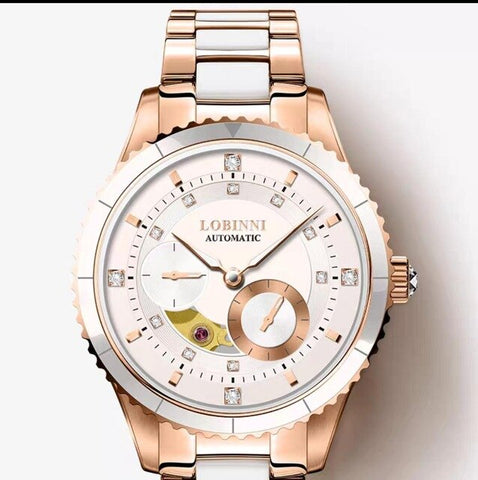 Lobinni Top Seagull Automatic Women Watch Luxury Brand Original Design Ladies Wrist Watch Stainless Steel Elegant женские часы