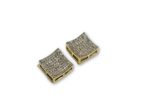 Luxury Style Earrings 3D 0.32ct de diamants en or 10K