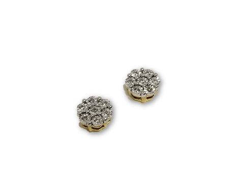 Luxury Style Earrings 0.10ct de diamants en or 10K