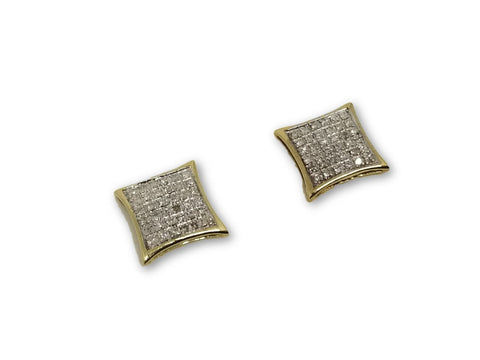 Luxury Style Earrings 0.25ct de diamants en or 10k