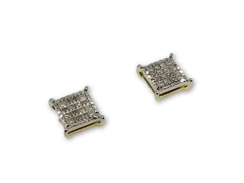Luxury Style Earrings 0.15ct de diamants en or 10k